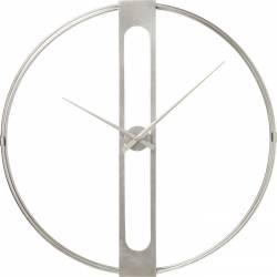 Laikrodis CLIP Ø60 sidabrinis
