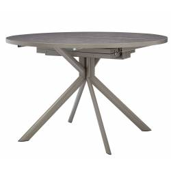 Apvalus išskleidžiamas stalas GIOVE Ø120(165) pilkas