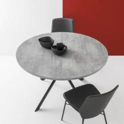 Apvalus išskleidžiamas stalas GIOVE Ø120(165) beton grey