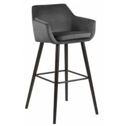 Baro kėdė NORA VIC tamsiai pilka