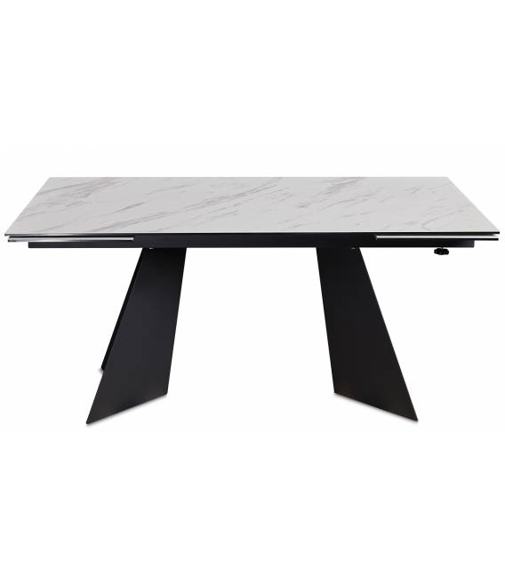 Išskleidžiamas stalas DORIANO 160(240)x90 baltas