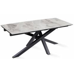 Išskleidžiamas stalas ARTISTICO 180(260)x90x75 pilkai margas