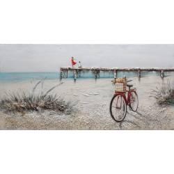 Paveikslas BICYCLE ON THE BEACH 60x120