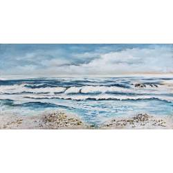 Paveikslas WHITE WAVES 60x120