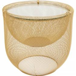 Kavos staliukas GRID Ø50 auksinis