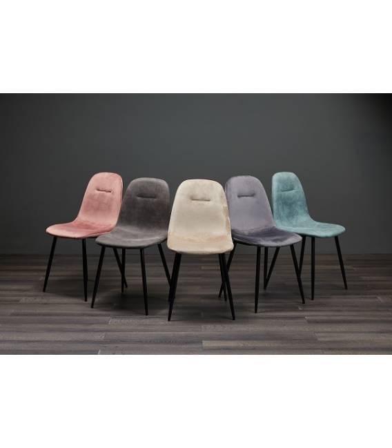 Kėdė CONNY eco-nobuck tamsiai pilka