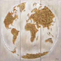 Paveikslas GOLD MAP 120x120