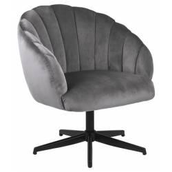 Fotelis 86390 VIC tamsiai pilkas