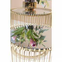 Šoninių staliukų komplektas WIRE BRASS auksinis