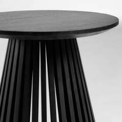 Šoninis staliukas IRUNE Ø50 juodas