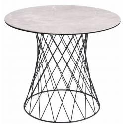 Apvalus stalas RETE Ø90 šviesiai pilkas