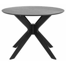 Apvalus stalas 80527 juodas Ø105