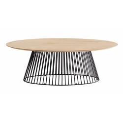 Ovalus stalas LESKA 120x65 rudas
