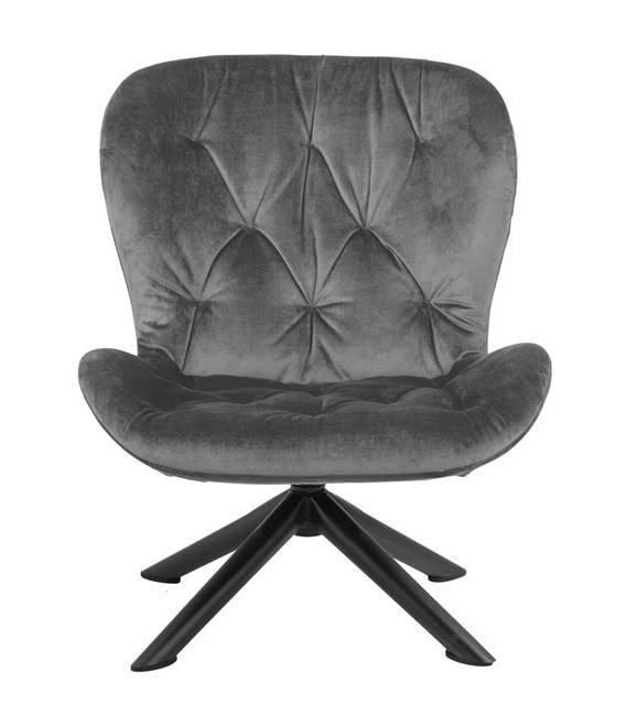 Fotelis 86139 VIC tamsiai pilkas