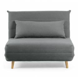 Išskleidžiamas fotelis SUSAN 107x91 tamsiai pilka