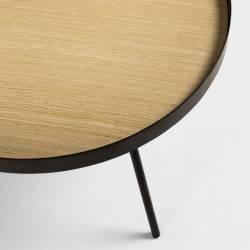 Šoninis staliukas NENET Ø60 šviesiai rudas