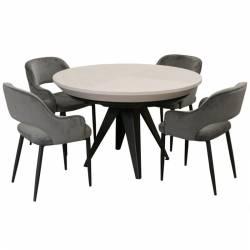 Apvalus stalas ANGRA Ø120(220)x76 balintas ąžuolas