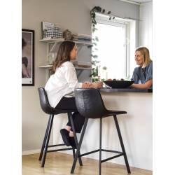 Pusbario kėdė ALPHA juoda