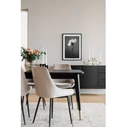 Išskleidžiamas stalas FENWOOD 180(260)x90 juodas