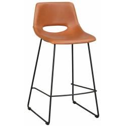 Pusbario kėdė MANNING PU ruda