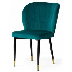 Kėdė MERIDA turkio / auksinės kojelės