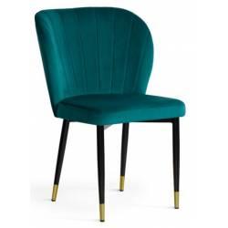 Kėdė MERIDA VIC turkio/auksinės kojelės