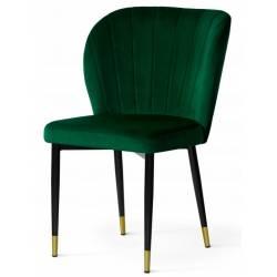 Kėdė MERIDA žalia / auksinės kojelės