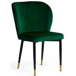 Kėdė MERIDA VIC žalia/auksinės kojelės