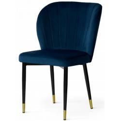 Kėdė MERIDA mėlyna / auksinės kojelės