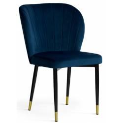 Kėdė MERIDA VIC mėlyna /auksinės kojelės