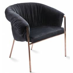 Fotelis SUMMER VIC juodas