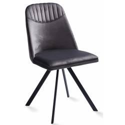 Kėdė ROUND VIC pilkas/sukasi