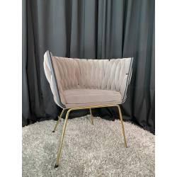 Krėsliukas LEANDRA VIC ruda / auksinė koja