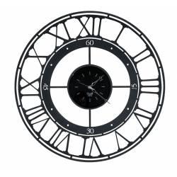 Laikrodis KOROS Ø70 juodas