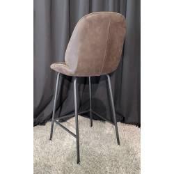 Pusbario kėdė KIM eco nobuck tamsiai ruda