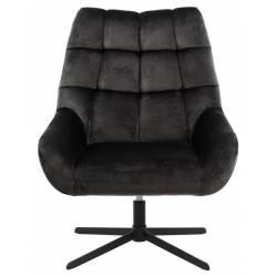Fotelis 86656 VIC tamsiai pilkas