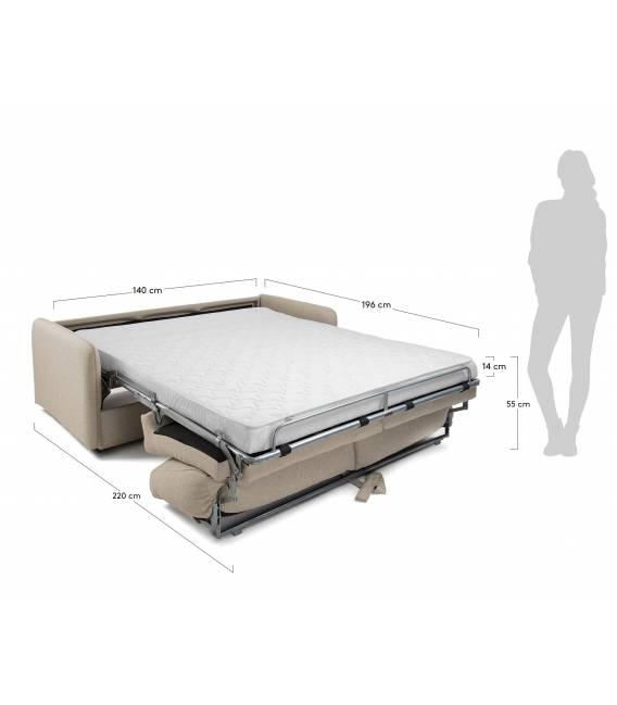 Sofa lova KOMOON 182x95 beige