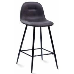 Pusbario kėdė CONNY eco-nobuck grafito