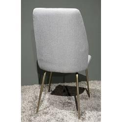 Kėdė ANDREA pilka/auksinės kojelės