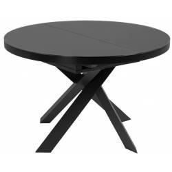 Išskleidžiamas apvalus stalas VASHTI Ø120(160) tamsiai pilkas