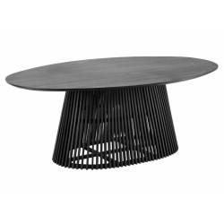 Ovalus stalas JEANETTE 200x120 juodas