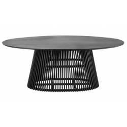 Ovalus stalas IRUNE 200x120 juodas