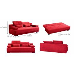Sofa-lova ALEXIS 225x108