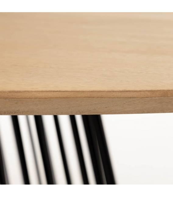Ovalus stalas LESKA 200x110 rudas