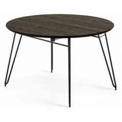 Išskleidžiamas stalas NORFORT 120(200)x75 rudai juoda