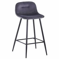 Pusbario kėdė CONNY VIC tamsiai pilka