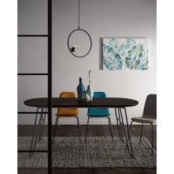 Išskleidžiamas stalas MILIAN 140(220)x90 tamsiai rudas