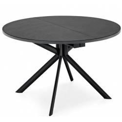 Apvalus išskleidžiamas stalas GIOVE 120(165) juodas su rudu