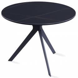Kavos staliukas FLORIN Ø60 juodas su dryžiais