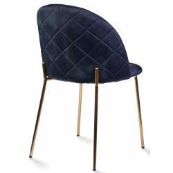 Kėdė DIA VIC juoda/auksinės kojelės